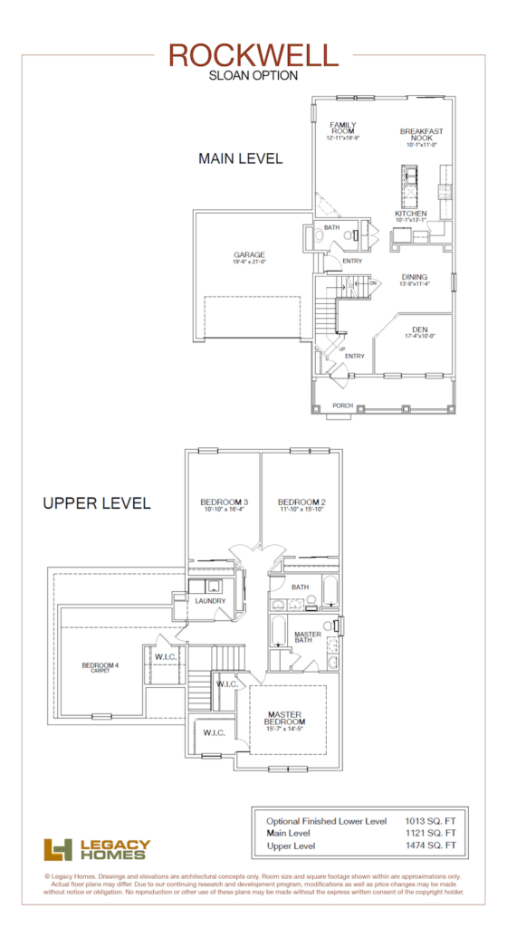 Legacy Homes Rockwell Floor Plan Sloan Min