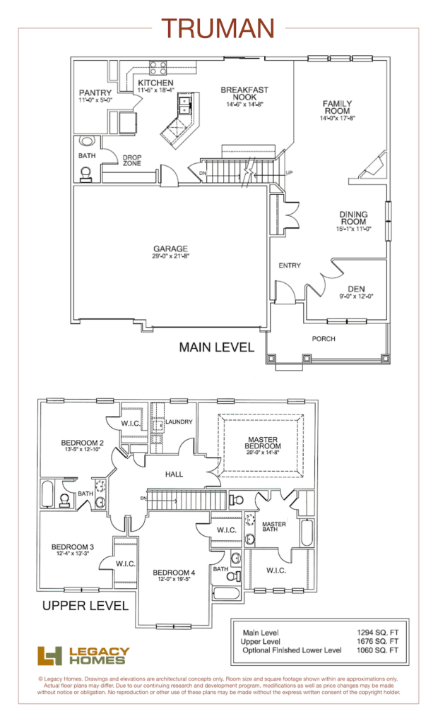 Legacy Homes Truman Floor Plan Min