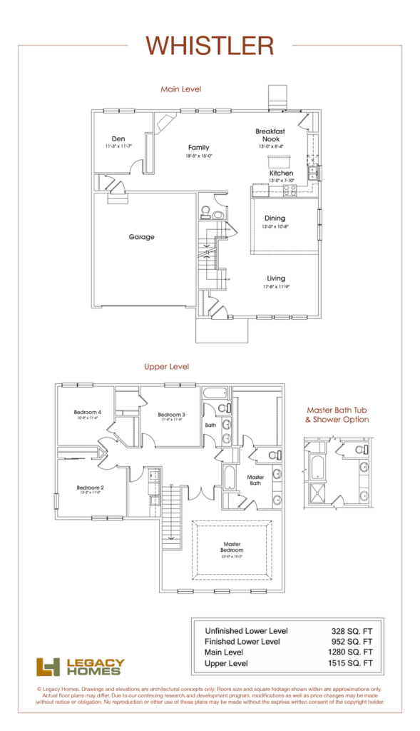 Legacy Homes Whistler Floor Plan Min